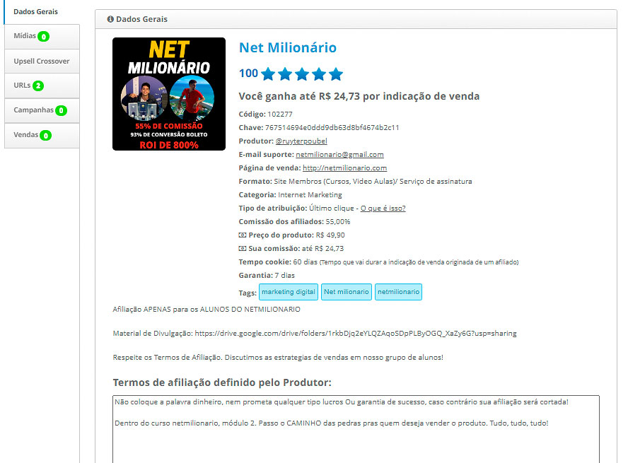 curso net milionário download gratis